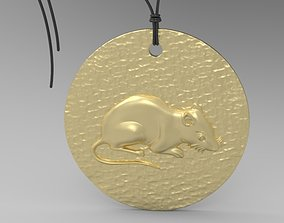 necklace 3D print model Chinese Zodiac Rat