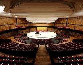 3D asset Concert Hall Amphitheater VR Baked Corona Max