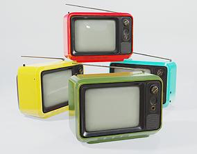 3D asset Retro portable TV