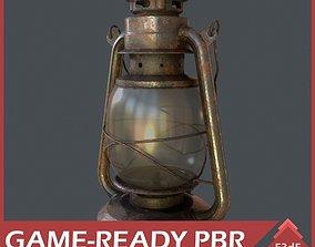 Western - Gas Lamp 3D model