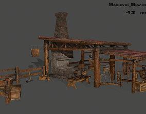 3D asset Medieval set