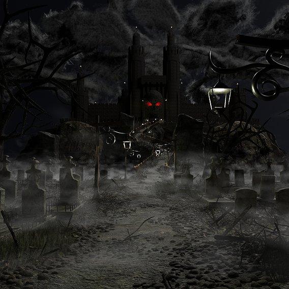 Graveyard Castle Scene #65