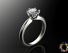 fashion-ring Engagement ring set 0068 3D print model