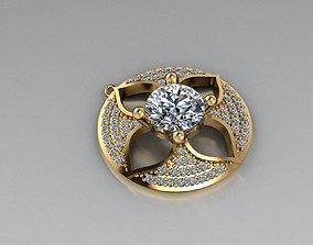 3D print model jewelry platinum gold pendant