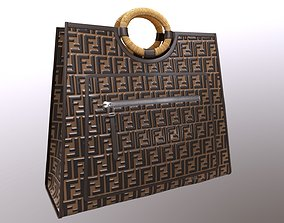 3D model Fendi FF Embossed Logo Runaway Shopper
