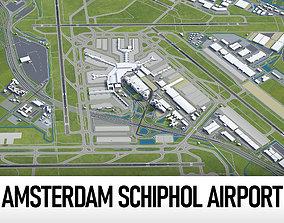 Amsterdam Airport Schiphol - AMS 3D asset VR / AR ready
