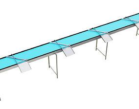 3D model Volume Sorting Conveyor