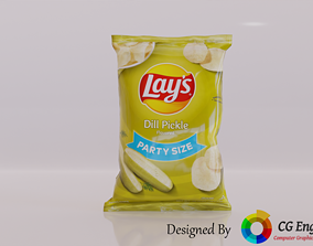 Lays 3D Model - Lays Dill Pickle Flavour realtime