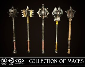 3D model Collection of maces