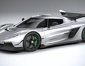3D model Koenigsegg Jesko 2020 LowPoly