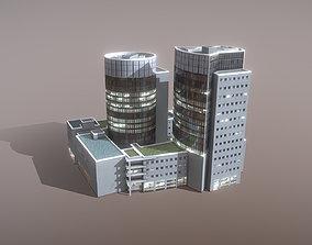 3D model Building Frankfurt Buroturme Offenbach