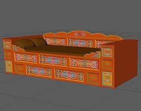 3D Mongol Bed