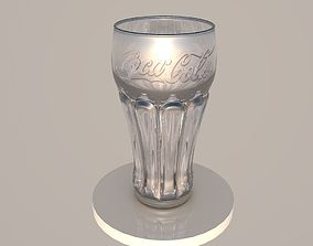 3D Glass of cocacola glass