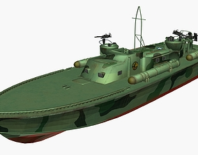 3D Patrol torpedo boat Elco 80 sea