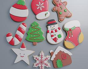 Pbr Christmas Cookies 3D asset