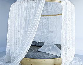 3D Queen Bed Canopies and Draperies