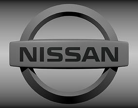 Nissan logo 3D model