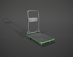 3D model Folding Platform Truck - Trolley - Green Accents
