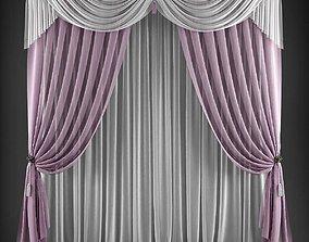 VR / AR ready Curtain 3D model 165