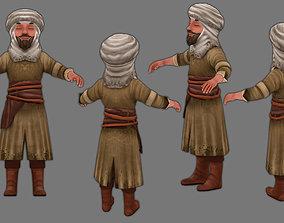 3D model man in a turban