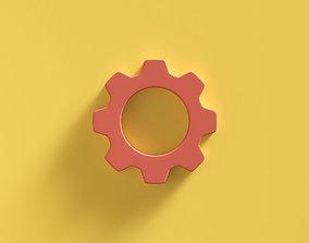 Web Icon Settings 3D model advertising