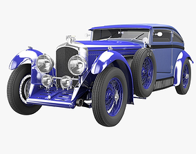 old 3D Bentley Blue Train
