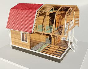 3D model disassembled-house