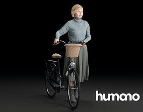 Humano Biking Woman 0714 3D