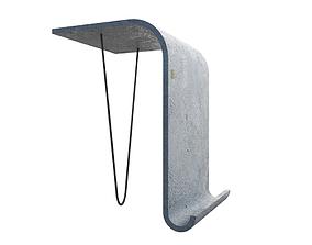 Concrete side table 3D model