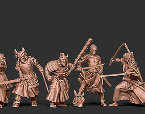 Samourai bundle - 6 miniatures 35mm 3D printable model