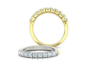 Eternity Ring 3d model 9 stones style printable