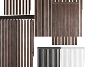 3D Vertical wooden blinds 3 options 3 colors