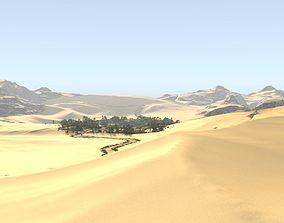 Oasis along the way in Blender 3D model