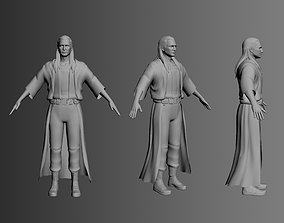 Male warrior character 3D model