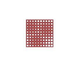 3D Square Perforated Wall - Parametric Grasshopper Script