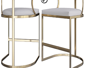 3D asset Gold Counter Stools Mitchell Gage Stool