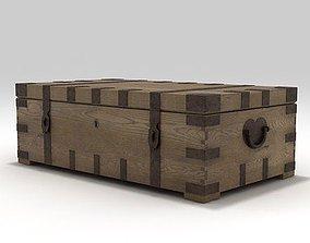 3D model Restoration Wooden Trunk