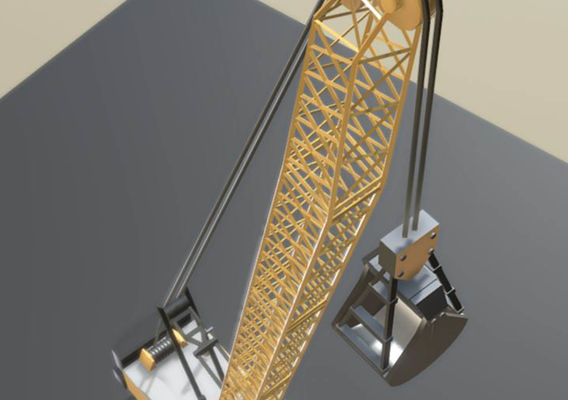 Construction Vehicle 2 - Rope Crane Low Poly and Rigged