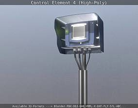 3D Control Element 4 High-Poly Version