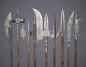 Medieval Polearms 3D asset PBR