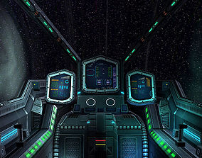 3DRT - Sci-Fi Spaceship Cockpit 2 game-ready