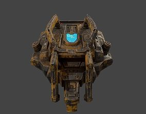 Low poly sci fi old heavy weapon asset realtime