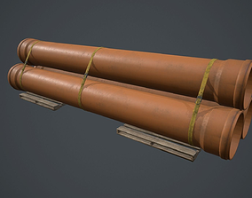 Drain Pipes PBR Game Ready 3D asset