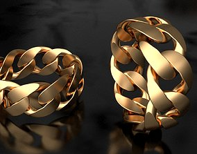 Miami Cuban Link Chain Ring 10mm wide 3D print model