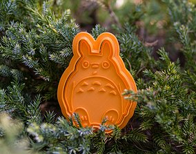 mold 3D print model Totoro cookie cutter