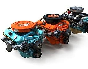 Mopar V8 engine 3D asset