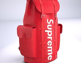 Supreme Louis Vuitton Bag Christopher Backpack PM 3D asset