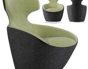 3D asset Roche Bobois Edito Lounge Armchair