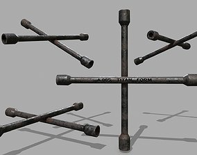 Lug Wrench 3D model realtime