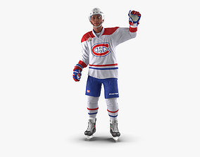 Hockey Player Montreal Canadiens Rigged for Cinema 4D 3D